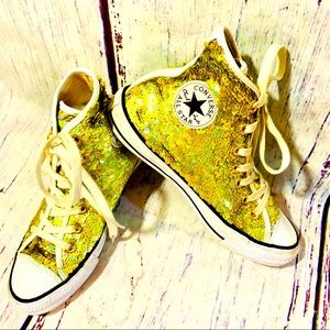 CONVERSE GOLD SEQUIN ALL STAR HIGHTOPS